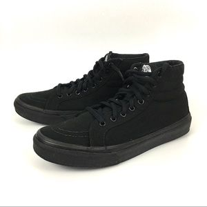 Vans Off The Wall All Black High Top Sneakers